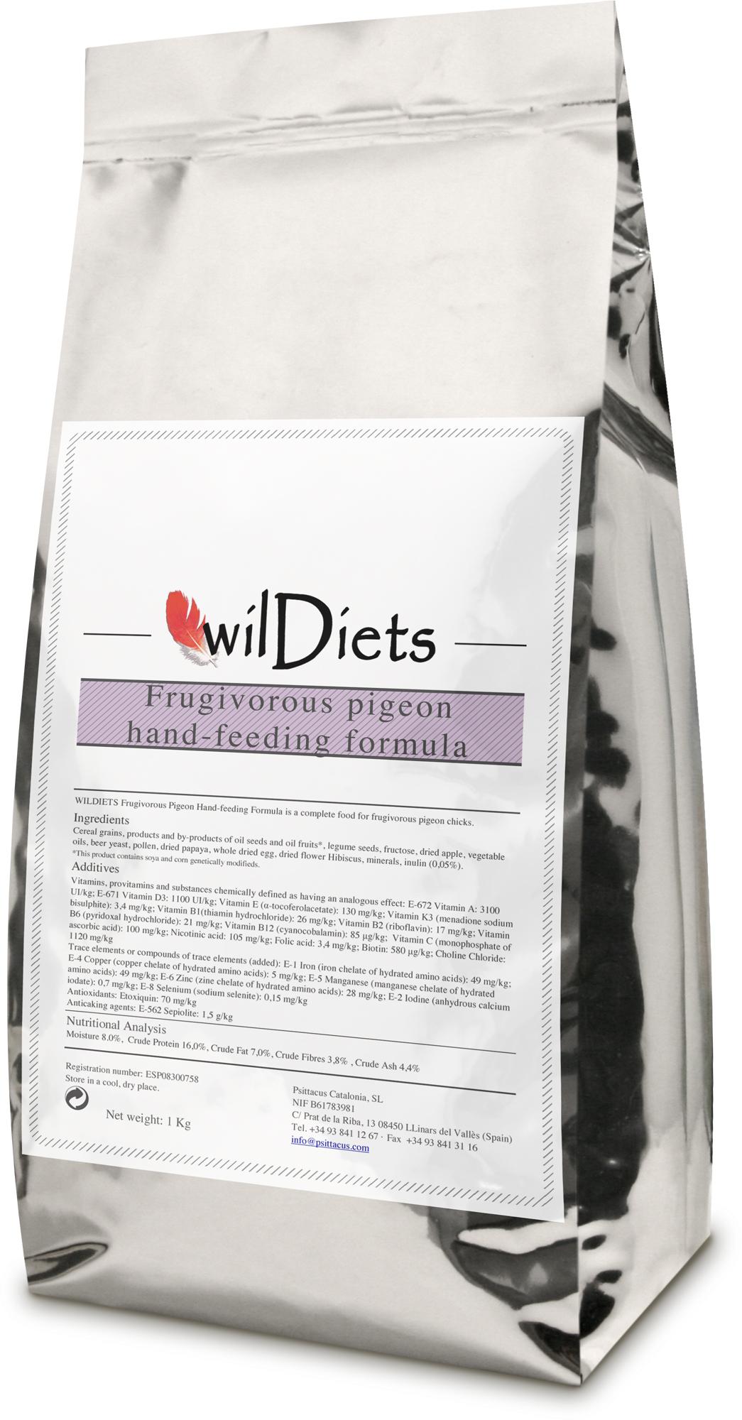 Wildiets Frugiverous Pigeon Hand Feeding Formula GF