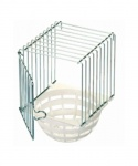 Canary Nest Pan External with Wire Cage
